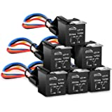 GOOACC 6 Pack Automotive Relay Harness Set 5-Pin 30/40A 12V SPDT with Interlocking Relay Socket and Harnesses,2 years…
