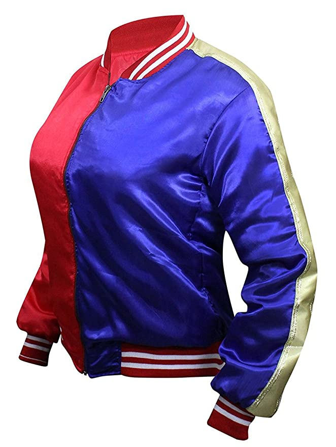 Suicide Squad Harley Quinn Property of Joker Bomber Jacket at Amazon Womens Coats Shop