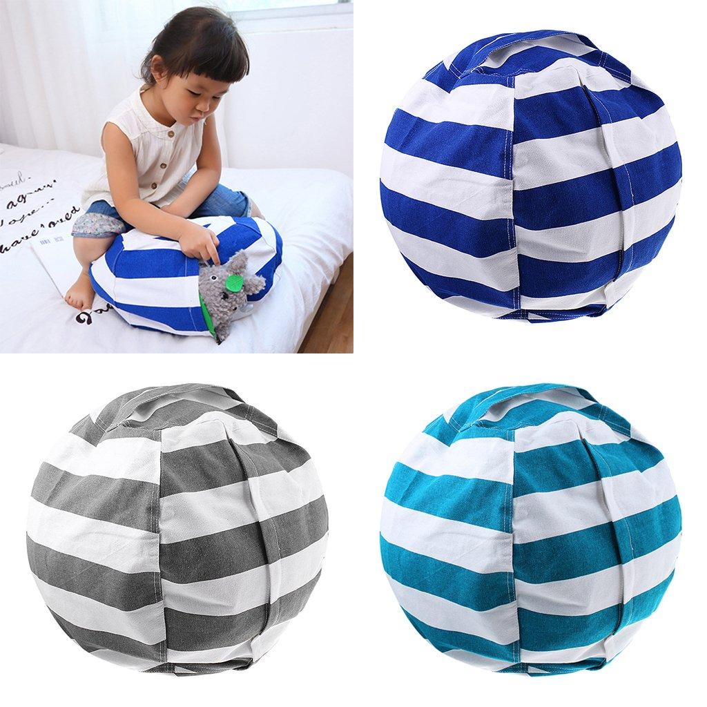 MonkeyJack Portable Kids Stuffed Toys Plush Animal Toy Storage Bag Organizer Bean Bag Chair