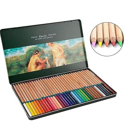 Amazoncom Feelily 36 Color Tin Case Premium Colored Pencils - Premium-color-pencils