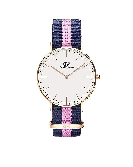 02ce54319 Daniel Wellington 0505DW - Reloj con correa para mujer, color azul/rosa: Daniel  Wellington: Amazon.es: Relojes