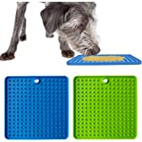 BWOGUE 2 Pack Pad for Dog Lick, Pet Boredom Buster Lick Mat Slow Feeders & Anxiety Relief, Perfect for Dog Food, Cat…