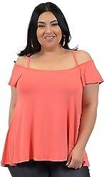 827a4efb94e86 Stretch is Comfort Women s Plus Size Modal Cold Shoulder Top