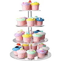 Flexzion 4 Tiered Cupcake Stand Display Holder Tower Set