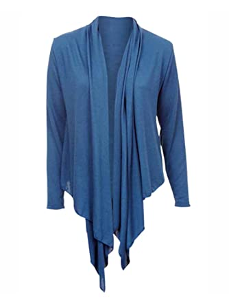 58f501b744 1 Funwear Factory Teal Blue Long Sleeve Flowing Shrug Sweater Size Small