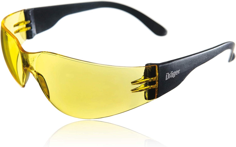 Dräger X-pect 8312 Gafas de Seguridad | Lentes de protección Rayos UV antivaho | Patillas Planas |para Industria, Deporte, Laboratorio