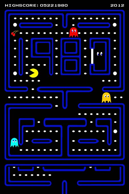 Amazon.com: Pac Man Pacman Old Classic Retro Game Poster 24x36: Posters & Prints