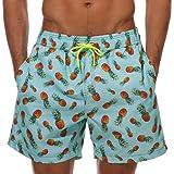 SILKWORLD Men's Swimming Surf Printed Board Shorts