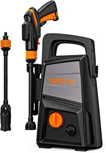 TACKLIFE P9 1500 PSI 1.3 GPM (Max) Electric Pressure Washer, 4 in 1 Adjustable Nozzle for Car Washing and Daily Cleaning Tasks, Portable and Powerful Cleaner for Vehicles, Gardens, Patios