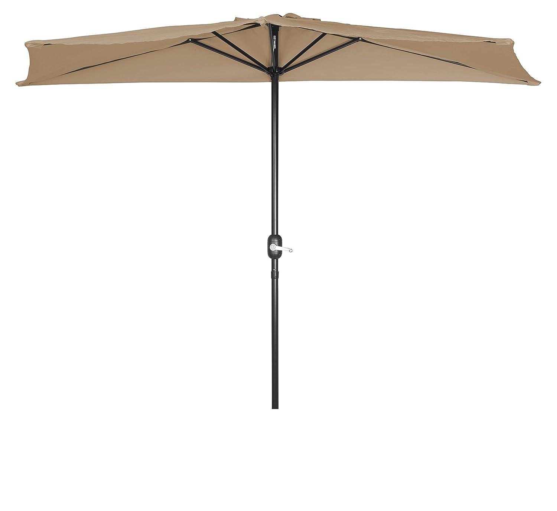 Amazon.com : Patio Half Umbrella - 9' - By Trademark Innovations (Tan) :  Garden & Outdoor