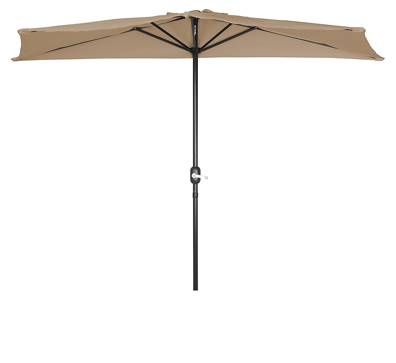 Amazon Patio Half Umbrella 9 By Trademark Innovations