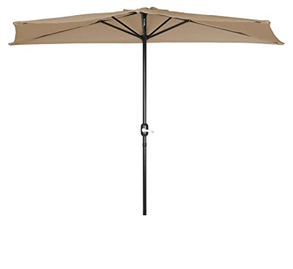 Charmant Patio Half Umbrella   9u0027   By Trademark Innovations ...