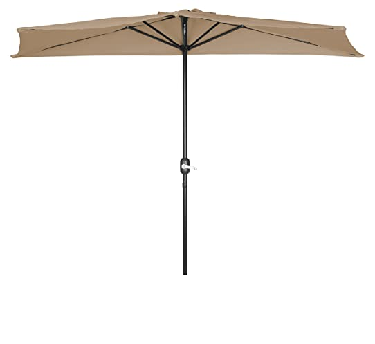 Trademark Innovations 9 Feet Patio Half Umbrella By (Tan)