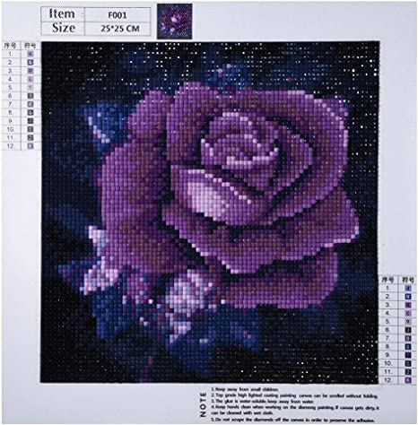 Full Drill 5D DIY Diamond Painting Cross Stitch Embroidery Art Home Decor Kits B