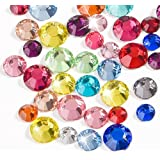 WXJ13 3 Sizes Flatback Rhinestones Mixed Colors Resin Round Crystal, 2000 Pieces
