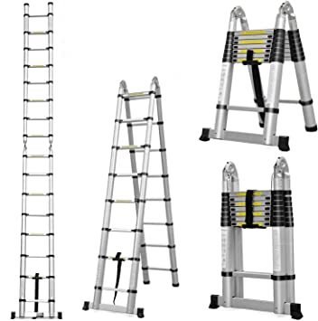 5 m 499,87 cm multiusos plegable para A-FRAME escalera + bolsa de transporte + día laborable siguiente de entrega: Amazon.es: Bricolaje y herramientas