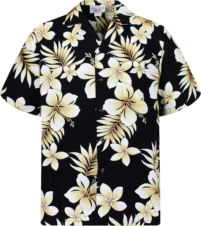 Pacific Legend | Original Hawaii Camisa | Hombre | S – 4 x l | manga corta | frontal de funda | Hawaii de Print | Flores palmera hojas oro | Negro: Amazon.es: Ropa y accesorios