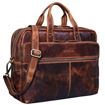 01042e188b STILORD 'William' Sac d'affaires Homme Cuir Porte-Documents Sac pour  Ordinateur