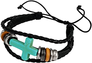 product image for American Coin Treasures Sideway Cross and Beads On Braided Cord Bracelet