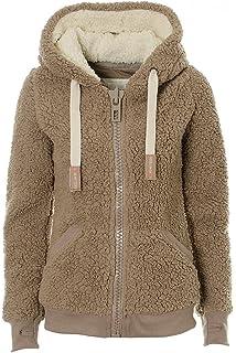 Ladies Womens Soft Teddy Fleece Borg Cropped  Zip Jumper Sherpa Jacket Warm Coat
