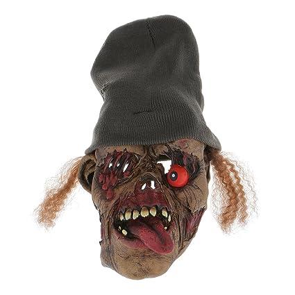 Máscara de Halloween Partido del Fantasma Gorra Línea Divertida Ojos Podridos