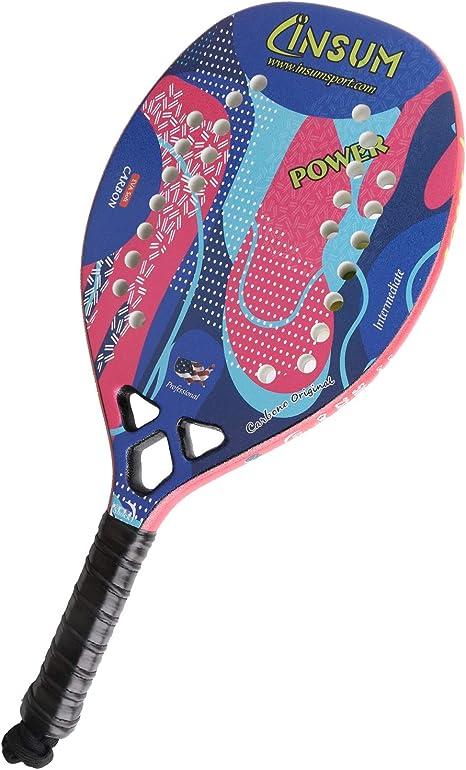 Amazon.com: Insum Graphite - Raqueta de tenis de playa de ...