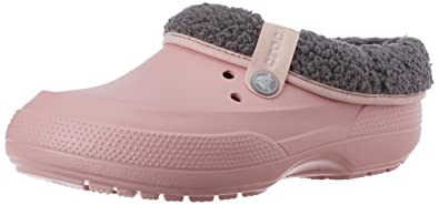 d0e3f01cf28 crocs Unisex Blitzen II Clog Pearl Pink and Smoke Rubber Clogs and Mules -  M9W11 (