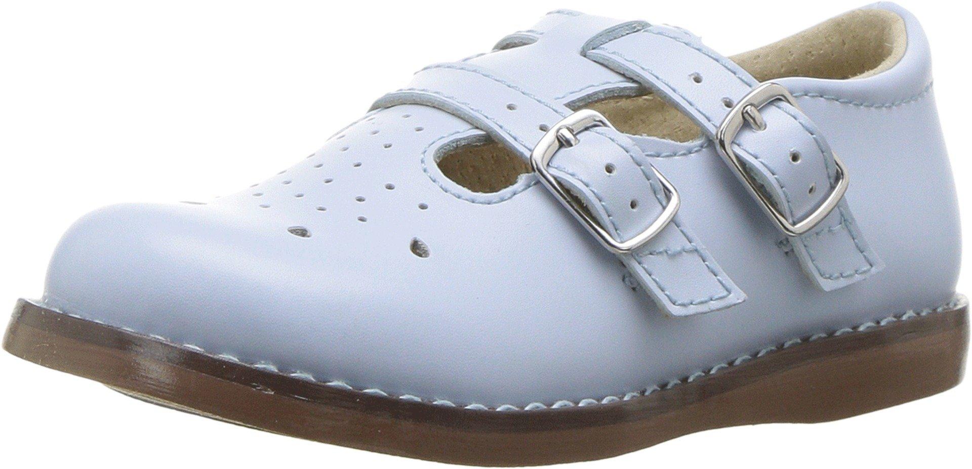 FootMates Girl's Danielle English Sandal Light Blue - 2214/10.5 Little Kid M/W by FootMates