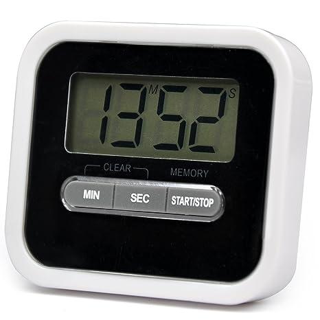 TRIXES Cronómetro digital de cocina (con alarma, temporizador, función de cuenta atrás,