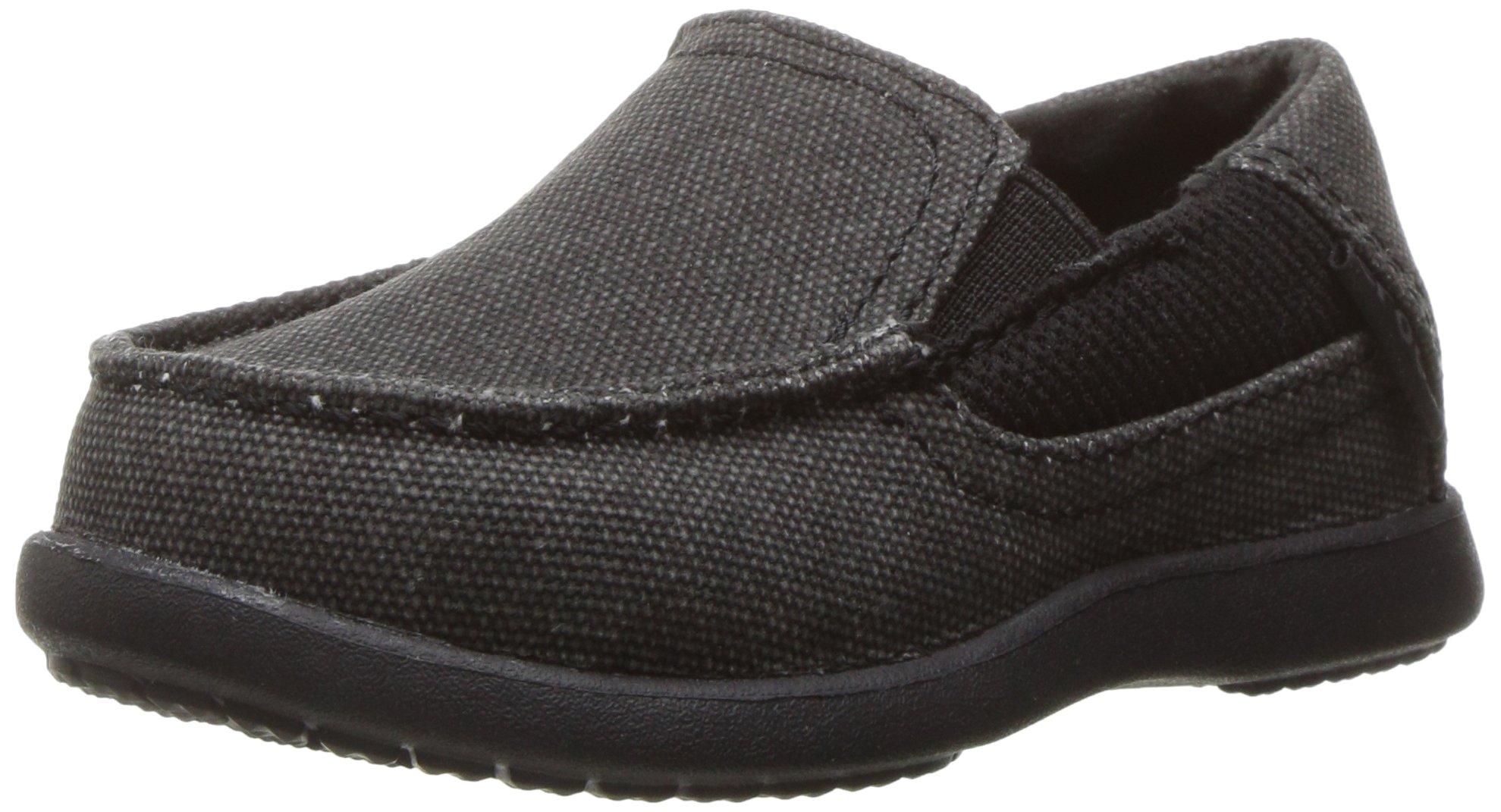 crocs Boys' Santa Cruz II PS Loafer, Black/Black, 10 M US Toddler