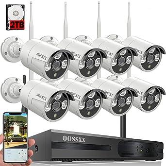 【2019 Nuevo】Sistema de Cámara de Seguridad, 1080P NVR Inalámbrica Kit de Vigilancia