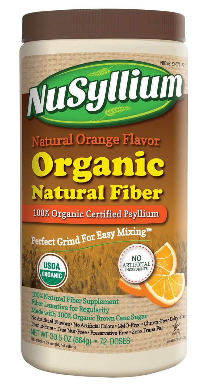 NuSyllium Organic Fiber, Natural Orange Flavor, 72 Servings by NuSyllium