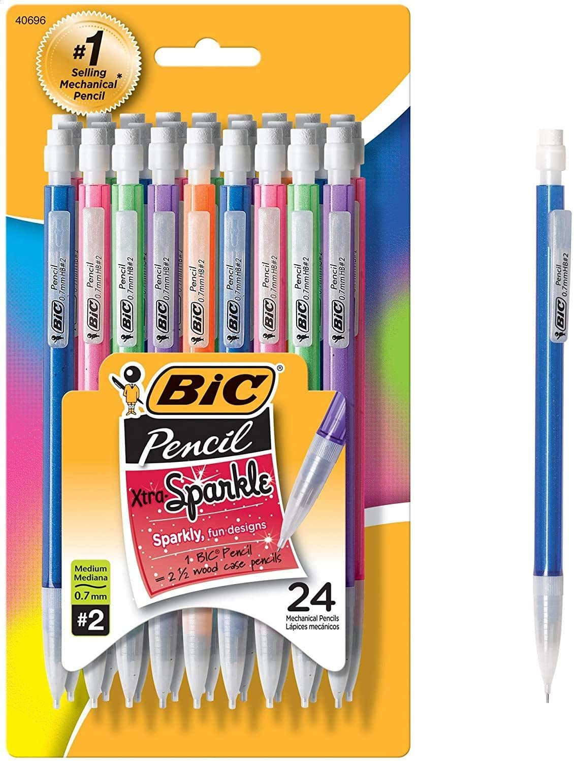 24-Count Medium Point 0.7 mm 24-Count Xtra-Sparkle Mechanical Pencil Refillable Design for Long-Lasting Use 2 Pack