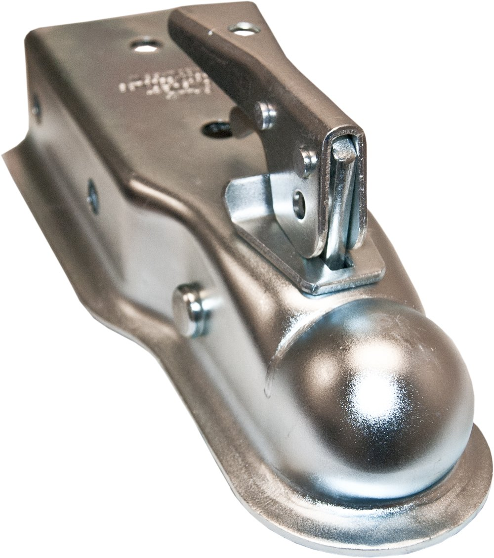 Bolt On Trailer Coupler with 2 Ball and 3500 LBS Capacity 3 Tongue