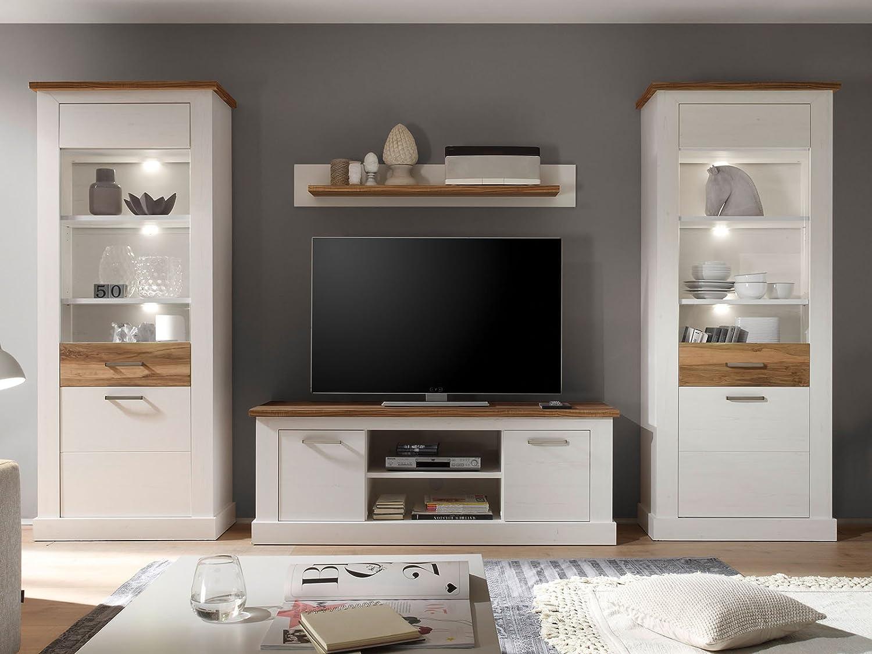 Wohnwand Anbauwand Schrankwand Wohnzimmerschrank Mediawand Wohnzimmer Tabea  I Günstig Kaufen