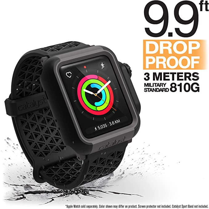 brand new 7868e 5fbc6 Apple Watch Impact Case 42mm Series 3 & 2 Rugged iWatch Protective Case by  Catalyst, Drop Proof Shock Proof Impact Resistant Apple Watch Case, Stealth  ...