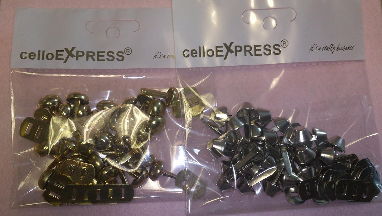 Bag /& Purse Feet with Backs celloexpress Pack of 4-12mm SILVER FLAT with BACKS Flat Bottom Handbag Studs Bag making /& Crafts