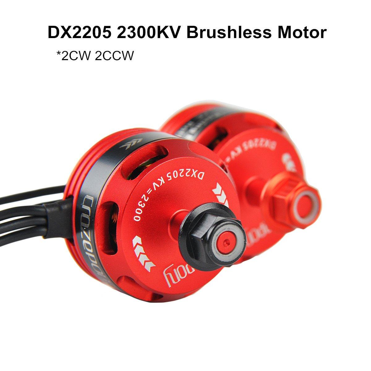 DroneAcc 4pcs DX 2205 2300KV Brushless Motor FPV 2CW 2CCW 2-4S Lipo Racing Edition Purple for QAV210 X220 QAV250 FPV Racing Drone