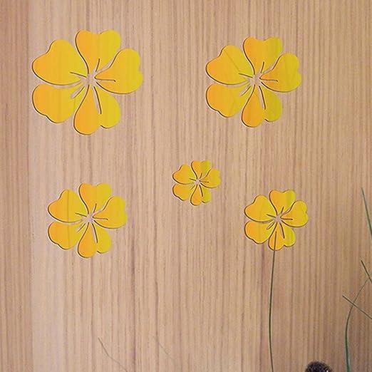 3D Home Art Door Wall Self Adhesive Removable Sticker Flowers Hawaiian pattern