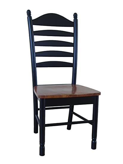 Charmant Tall Ladderback Chair Black / Cherry