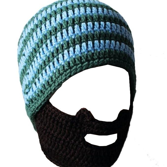 Ateid Invierno Gorro de Punto Disfrazar Barba sombrero