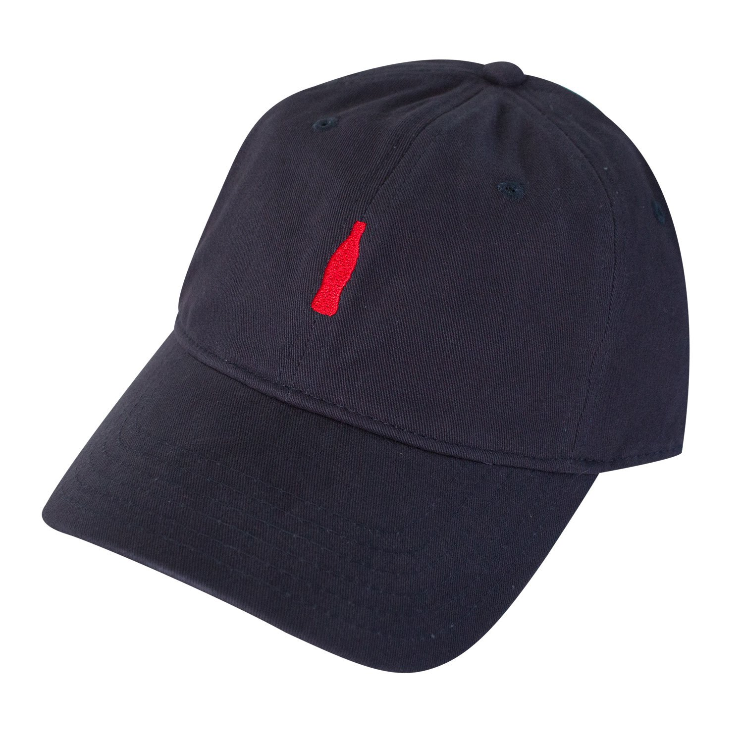 Coca-Cola Navy Bottle Logo Dad Hat at Amazon Men s Clothing store  58dbccdeb404
