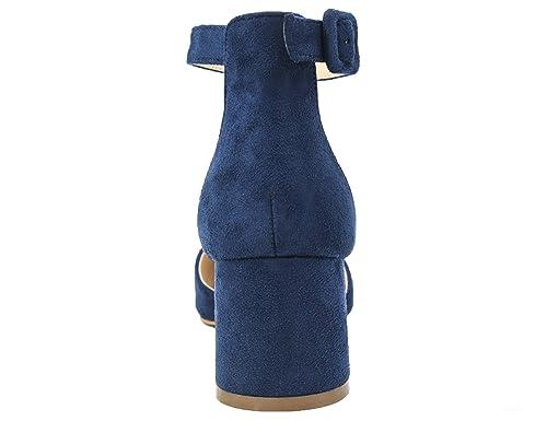 27657b6fe1603f Greatonu Damen Pumps Spitze Blockabsatz Sandalen  Amazon.de  Schuhe    Handtaschen
