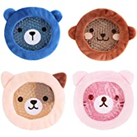 FOMI Premium Kids Hot Cold Ice Packs | 4 Pack | Soft Colorful Sleeves | Fun Animal...