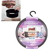 Backform Push Pan mit Silikondichtung, wasserdicht, 5 cm hoch, 18 cm ø: Silikon-Stahl Back Springform Kuchen Tortenring Kuchenring