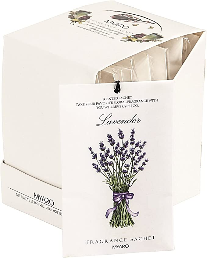 Amazon.com: MYARO 12 Packs Lavender Scented Sachets for Drawer and Closet (A-Lavender): Home & Kitchen