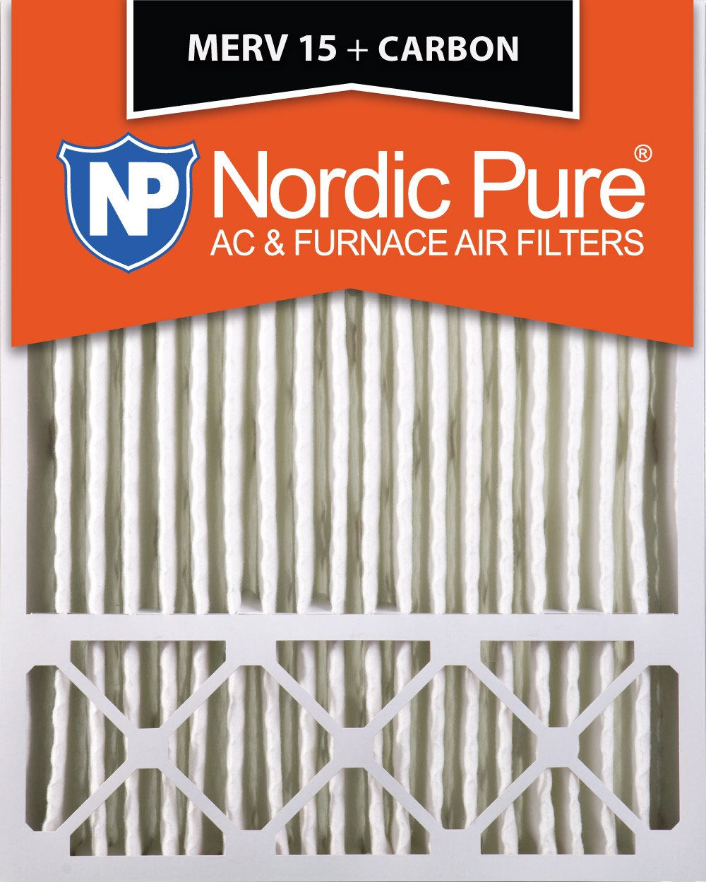 Nordic Pure 20x25x5 Lennox X6675 Replacement MERV 15 Plus Carbon AC Furnace Air Filter Box of 1 4-3//8 Actual Depth