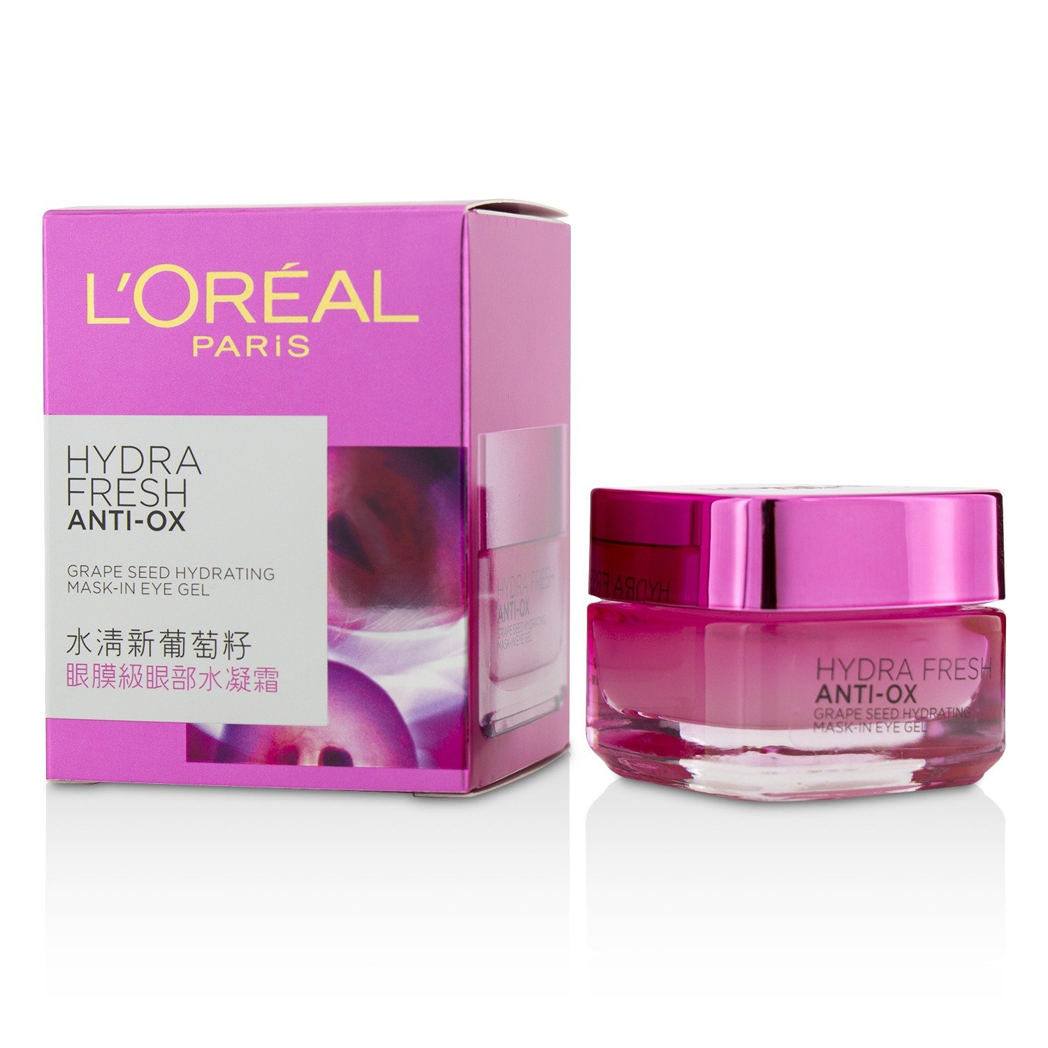 L'Oreal Paris Hydrafresh Anti-Ox Grape seed Hydrating Mask-In Eye Gel, 15ml