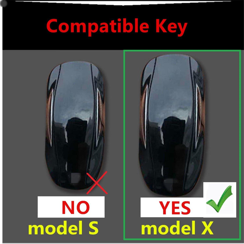 Key Fob Cover Fits Tesla Model X Smart Car Key M.JVisun Key Covers for Car Keys Tesla Model X Remote Key Aircraft Aluminum Key Fob Case Key Protector for Men /& Women Black