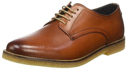 Base London Moore, Zapatos de Cordones Derby para Hombre, Beige (Tan Washed), 41 EU